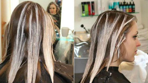 Создание эффекта выгорания волос без начеса
