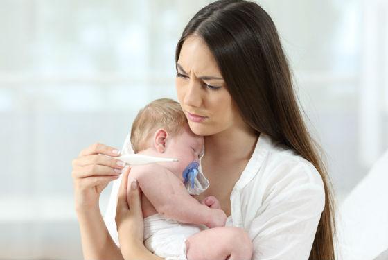 У малышей до года проявления респираторных заболеваний отличаются
