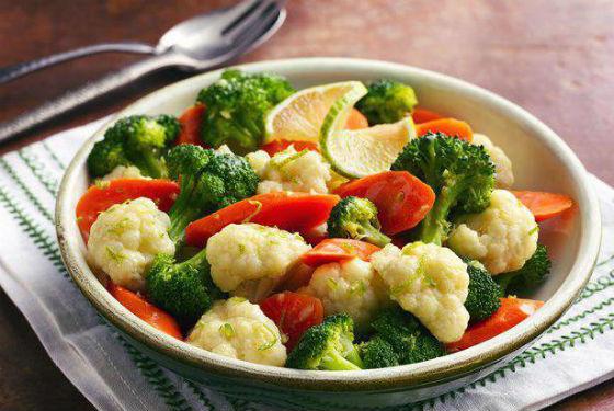 Отварные овощи для очищения при диете по-японски