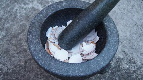 Приготовление порошка из скорлупы