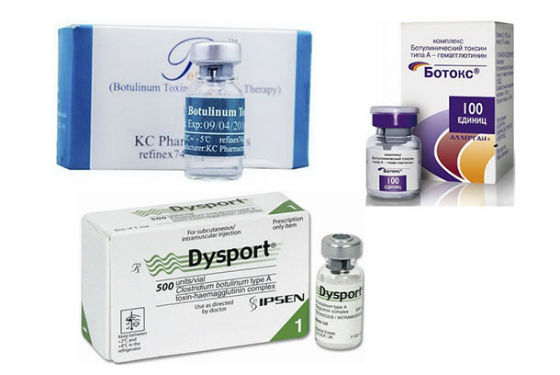 Препараты ботокса для использования косметологом