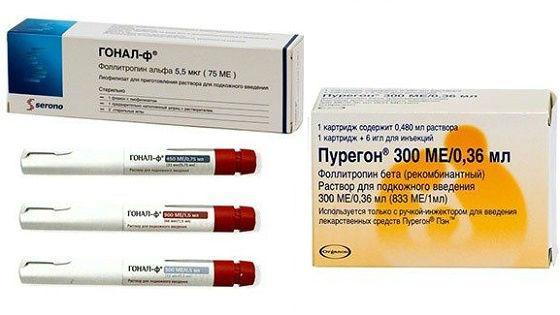Препараты для стимулирования выработки яйцеклеток