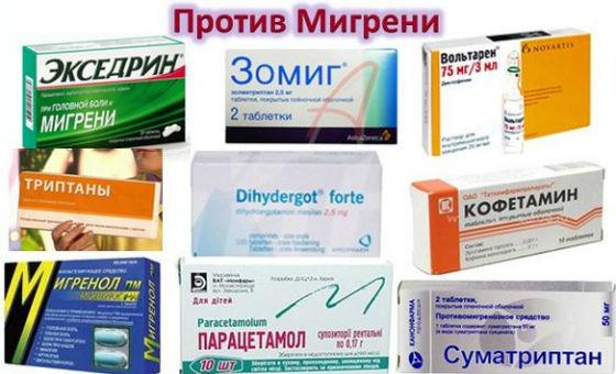 Препараты против головной боли