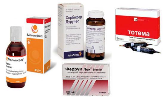 Препараты железа для лечения и профилактики малокровия