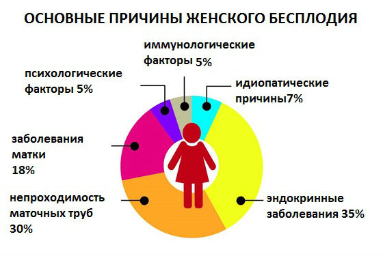 Причины и факторы женского бесплодия