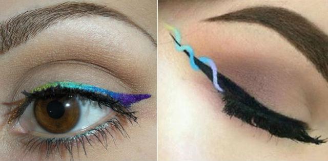 Нестандартные стрелки для вечернего макияжа