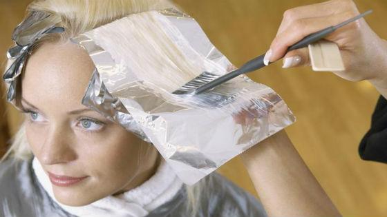 Блондирование в салоне