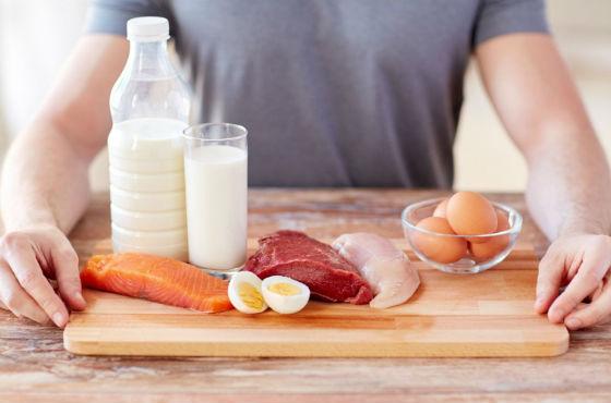 Рацион на день в период употребления белка