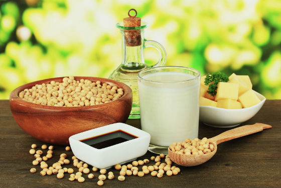 Разнообразие продуктов, приготовленных из сои