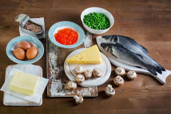 Продукты с наибольшим содержанием витамина Д