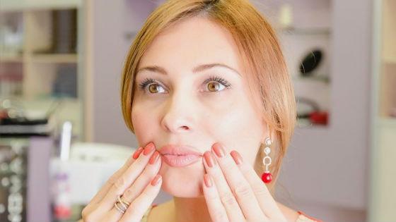 Гимнастика для лица помогает предотвратить появление морщинок вокруг губ