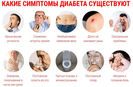 Первичные диабетические симптомы