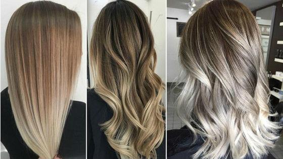 Эффект естественного выгорания волос