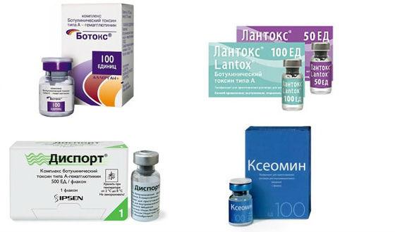 Препараты ботулотоксина, используемые в косметологии для коррекции морщин