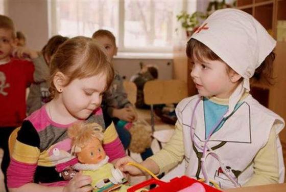 Коллективные игры помогают ребенку адаптироваться в дошкольном учреждении