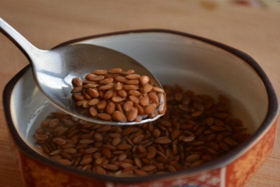 Замачивание льняного семени в воде
