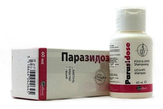 Шампунь Паразидоз при лечении педикулеза