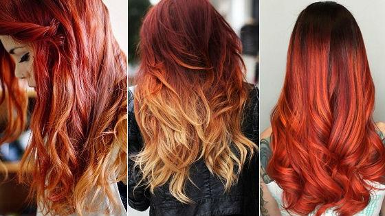 Яркие оттенки для рыжих волос