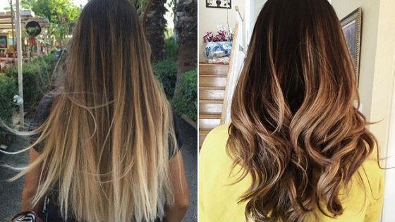Создание эффекта бликов солнца на темных волосах