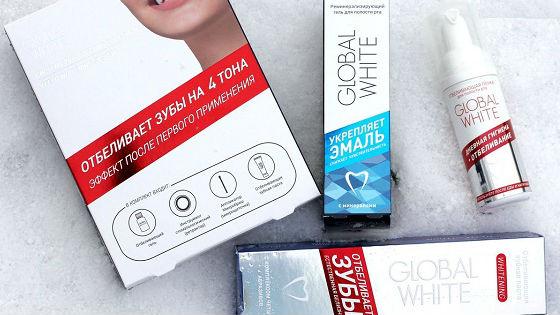 Система для зубов Global white справляется с налетом за неделю