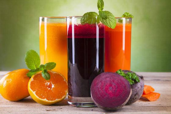 Фруктовые и овощные соки вместо перекуса