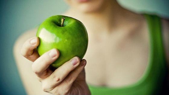 Зеленые яблоки для очистительной ступени