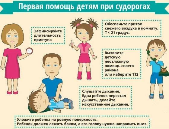 Первая помощь при судорогах после вакцинации