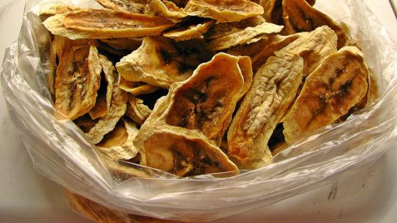 Полезные банановые чипсы