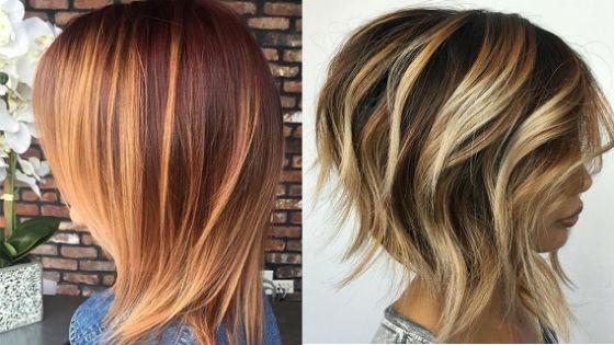 Яркие блики на коротких волосах