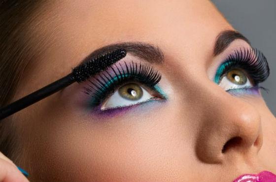 Создание визажа каре-зеленых глаз
