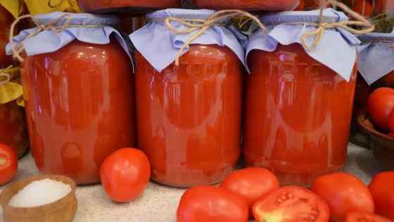 Хранение сока из томатов в стеклянной таре