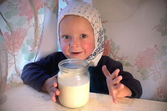 Топленое молоко в рационе детей