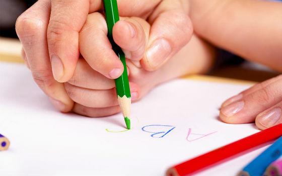 Один из способов обучения письму