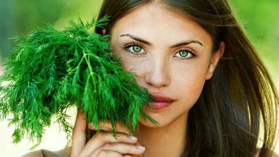 Укроп для приготовления массы для кожи возле глаз