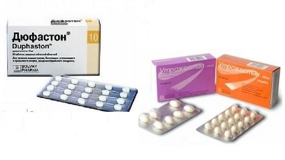Препараты прогестерона Дюфастон и Утрожестан