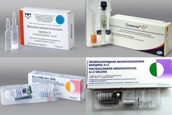 Вакцины против инфекций, вызывающих воспаление мозговых оболочек