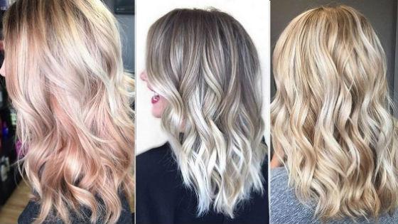 Разные оттенки на светлые волосы