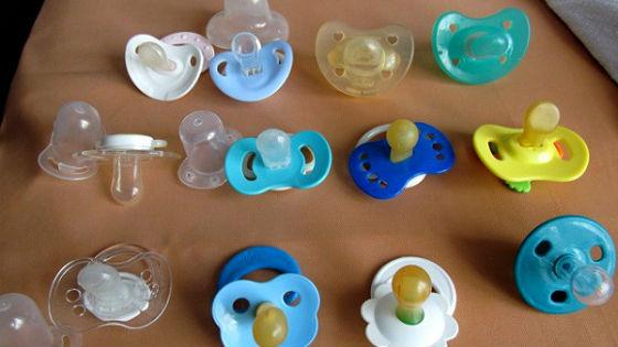 Разнообразие материалов, из которых изготовлены соски