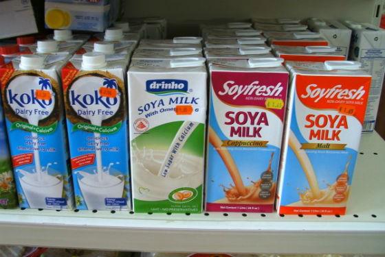 Молоко из сои на прилавках магазинов