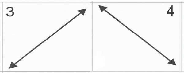 Движения глазами по диагонали