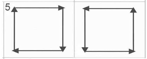 Рисование глазами прямоугольников