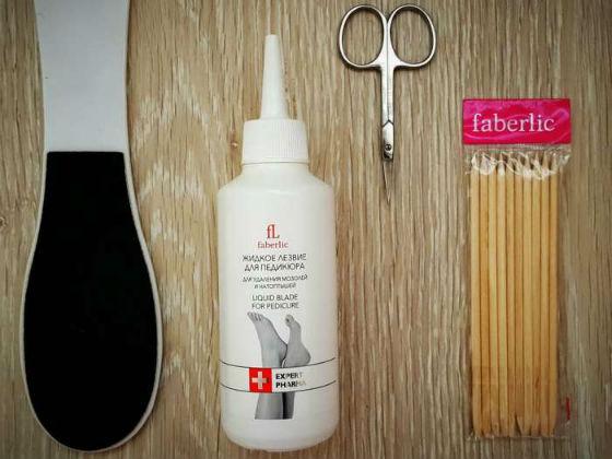 Faberlic для удаления огрубевшей кожи со стоп